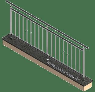 Classic vertical 1 inox ograda sa standardnim stupovima fi 40 mm