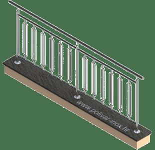 Elipse vertical inox ograda sa zanimljivim i neobičnim ispunama