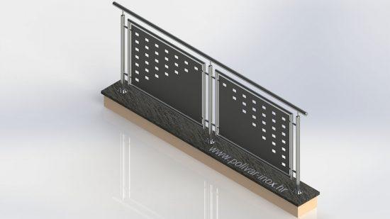 Ambient black inox ograda sa pocinčanim i platificiranim pločama