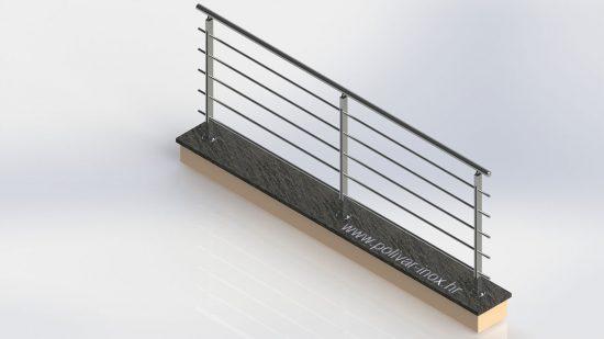 Avangarde inox ograda sa stupovima od flaha debljine 10 mm