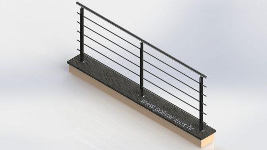 Avangarde iron ograda sa stupovima od od željeza u boji po želji