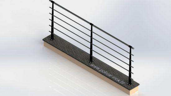 Classic iron flat inox ograda sa stupovima od od željeza u boji po želji