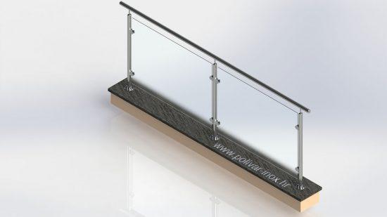 Glass classic inox ograda sa lamistal staklom debljine 8 mm