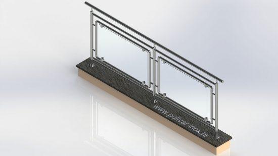 Glass extra inox ograda sa ispunom od okvira i lamistal stakla debljine 8mm