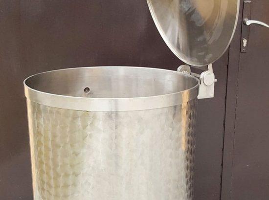 Inox rezervoar sa poklopcem za mlijeko sa potpunim ispustom